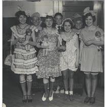 1934 Press Photo St. Joseph School Student Dancers Mich
