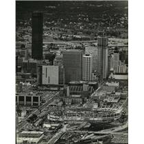 1980 Press Photo Downtown Minneapolis, With The IDS Tower and Pillsbury Center