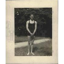 1919 Press Photo D.H. Rowland, Swimmer at Lake St. James, Paris, France