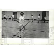 1981 Press Photo Virginia Asan, EWU fencing - spa42342