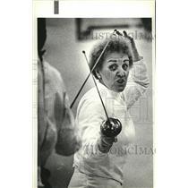 1981 Press Photo Fencing, Virginia Asan - spa42972