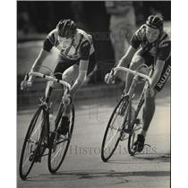 1984 Press Photo Connie Carpenter During Bicycle Racein Ripon, Wisconsin