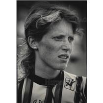 1984 Press Photo Portrait of Bicycle Racer Connie Carpenter - mja52887
