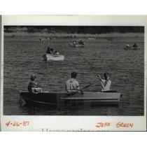 1999 Press Photo Fishing opening day on North Silver Lake - spa41929
