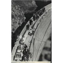 1931 Press Photo Big Tujunga Dam in Big Tujunga Canyon, dedicated - spa39339
