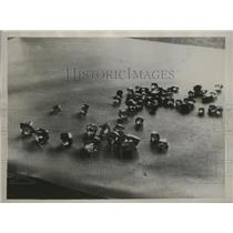 1936 Press Photo Raw Diamonds From The Fields Of Kimberley, South Africa