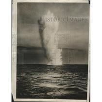 1931 Press Photo Depth Bomb at North Sea - nef63147