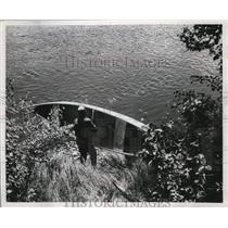 1921 Press Photo White water canoeing along Wisconsin Rivers - mja51849