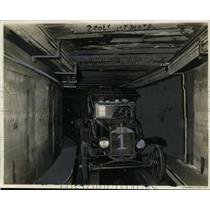 1922 Press Photo Interior of experimental tunnell for automobiles - neo00724