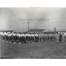 1956 Press Photo Washington Civil Air Patrol cadets at summer encampment