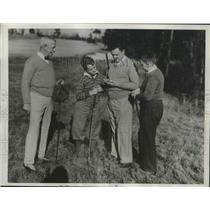 1934 Press Photo John Middleton grandsons Don & William & son CW golf