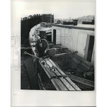 "1973 Press Photo Schooner ""Wawona"" Ship Restored, Seattle, Washington"