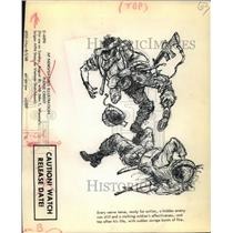 1968 Press Photo Vietnam War US Military Illustration - ftx01022