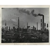 1939 Press Photo Poland Smoke Stacks - ftx01340