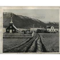 1940 Press Photo Icelandic Farm Land - ftx01390