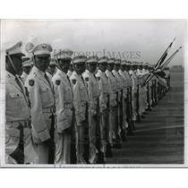 1964 Press Photo Japanese Honor Guard in Tokyo Airport - ftx01402