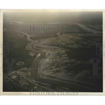 1955 Press Photo View of the Atchafalaya River near Simmesport, Louisiana.