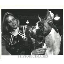 1995 Press Photo Dog Show at Bayside Expo Center