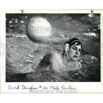 1983 Press Photo Mark Rankin All-Conference Goalie Water Polo State Championship