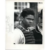 1977 Press Photo Don Polk Catcher Roughriders Baseball Team Oregon - ora69781