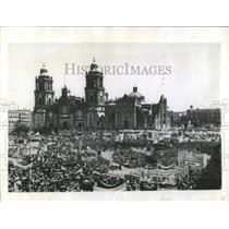 1942 Press Photo Mexico City Cathedral