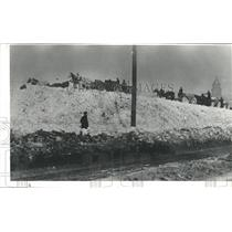 1913 Press Photo Snow Dump In Denver