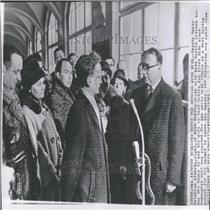 1963 Press Photo West Berlin Mayor Heinrich Albertz