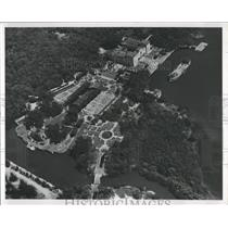 Press Photo Vizcaya Dade County Art Museum Aerial View - RRY43169