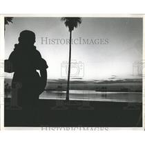 Press Photo Vinoy Park Statue Sunrise Pete Waterfort - RRY45833