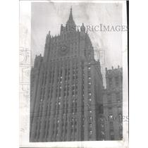 1954 Press Photo Foreign Trade Building Moscow Russia