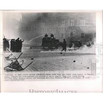 1963 Press Photo Workers Strikes Piazza Venezia Rome