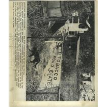 1973 Press Photo Delaware Water Gap Area Squatters