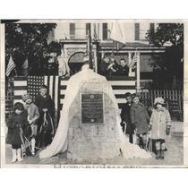 1926 Press Photo stone boulder President Wilson home