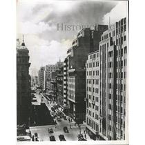 1946 Press Photo Downtown Johannesburg Commissioners St