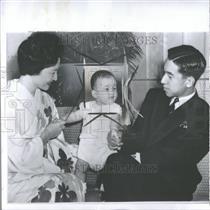 1960 Press Photo Crown Prince Hiro Ankihito royal Japan