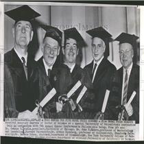 1964 Press Photo Five Nobel Prize Winners Honor Science