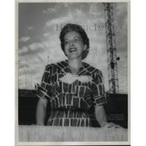 1958 Press Photo The Wife of University of Alabama Football Coach Paul Bryant