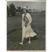 1931 Press Photo Mrs J Henry Alexandro at Florida Women's Golf at Palm Beach