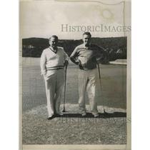 1935 Press Photo CA Stewart, JF Strickland at 2nd Castle Harbor Mid Ocean golf