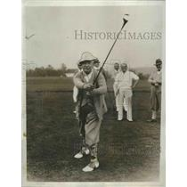 1933 Press Photo Al Smith at golf at Westchester course in Rye NY - nes53669