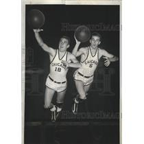 1939 Press Photo Bill & Chester Murphy for University of Chicago basketball