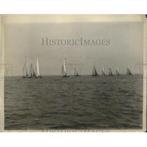 1930 Press PhotoBoats in 10 Meter Class Annual Regatta Huguenot Yacht Club