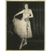 1924 Press Photo Lenore Hughes, Dancing partner of the famous Maurice
