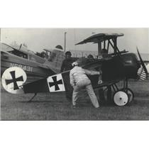 1977 Press Photo World War I Fokker Triplane Owned by Dave Gauthier - ftx01659