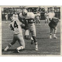 1972 Press Photo Joe Williams Running Back New Orleans Saints Practicing