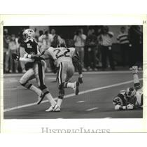 1989 Press Photo New Orleans Saints Player Running Into the End Zone - noa00986