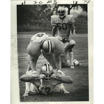 1975 Press Photo New Orleans Saints Stretching at Practice - noa01390