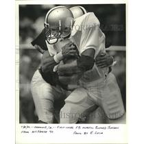 1986 Press Photo New Orleans Saints - First year FB hopeful Buford Jordon.