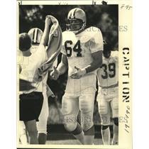 1971 Press Photo New Orleans Saints - Tired Saints, some get towels. - noa01435