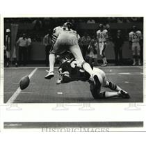 1979 Press Photo New Orleans Saints - Action during game against Chicago Bears.